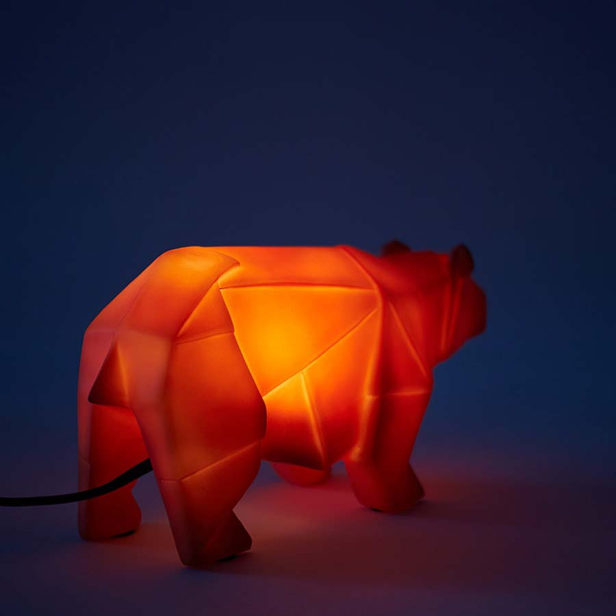 Orange House of Disaster Bear Lamp