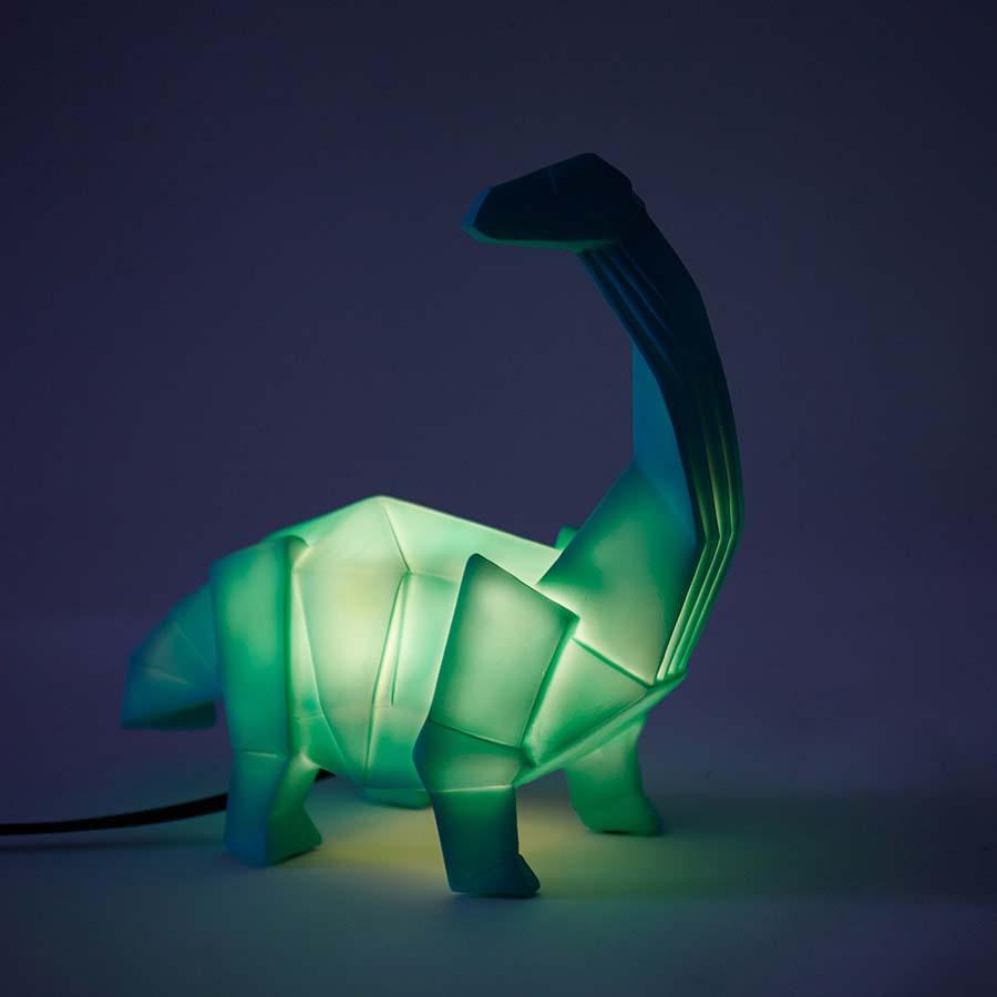 Green House of Disaster Diplodocus Dinosaur Lamp