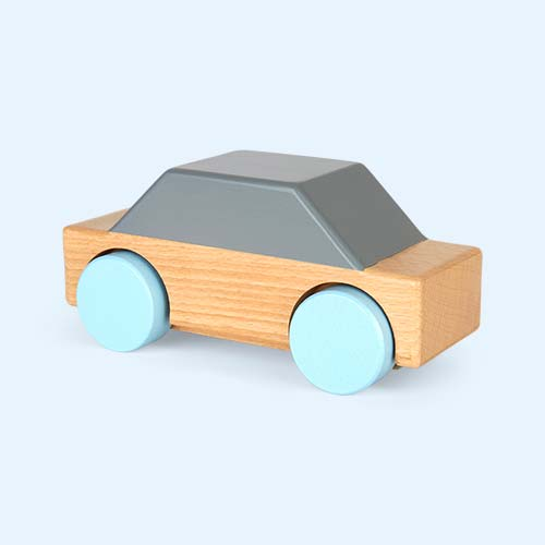 Grey Sebra Wooden Car