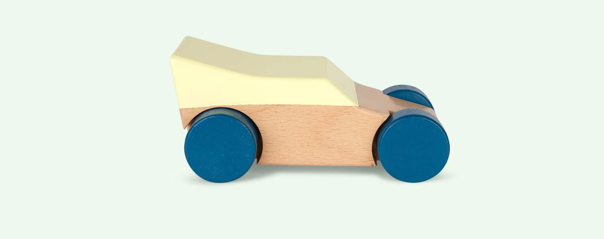 Yellow Sebra Wooden Race Car