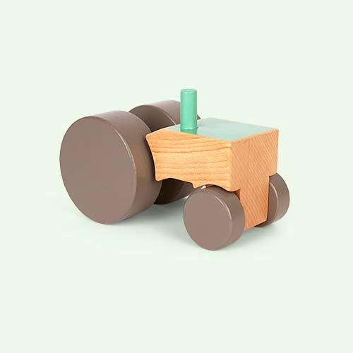 Green Sebra Wooden Tractor