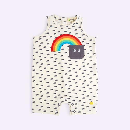 Rainbow The Bonnie Mob Sleeveless Rainbow Pocket Romper