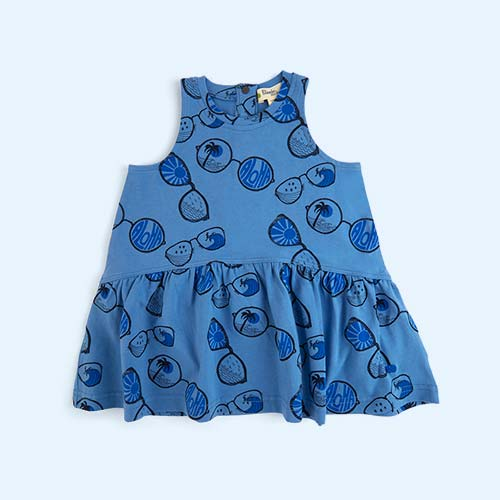 Blue The Bonnie Mob Sleeveless Sunnies Dress