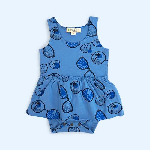 Blue The Bonnie Mob Sunnies Bodysuit Dress