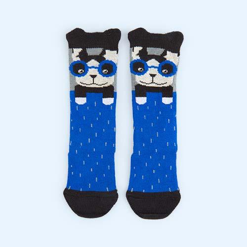 Blue The Bonnie Mob Knee Length Socks