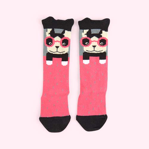 Pink The Bonnie Mob Knee Length Socks