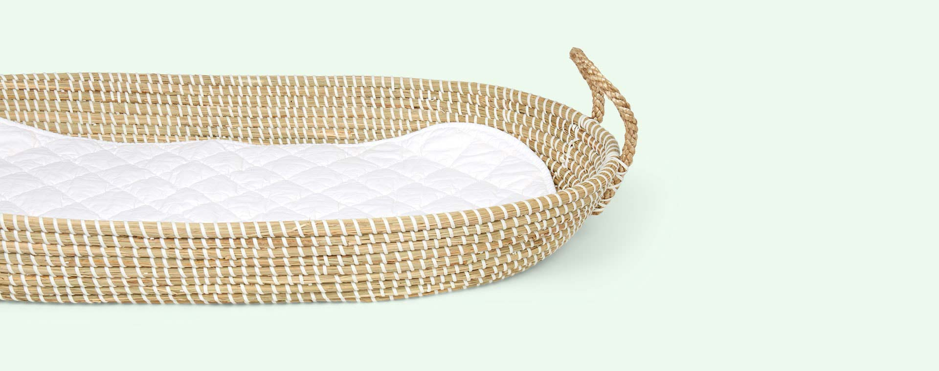 White Olli Ella Changing Basket Cotton Insert