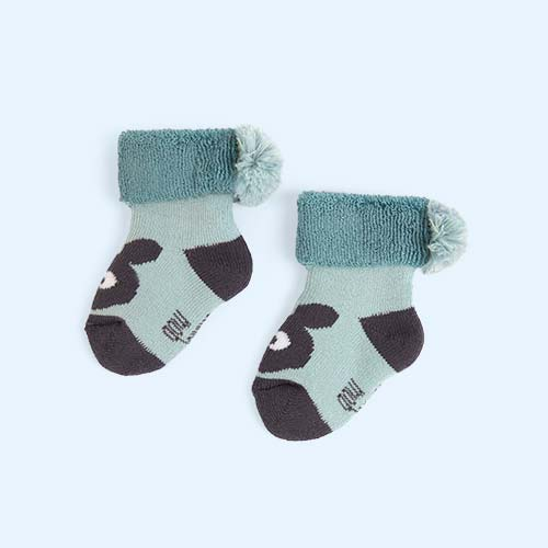 Ocean Blue The Bonnie Mob Bunny Booties