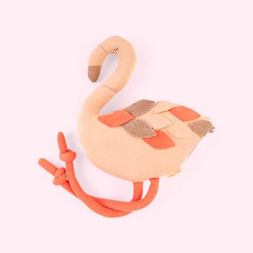 Pink Meri Meri Large Knitted Flamingo Toy