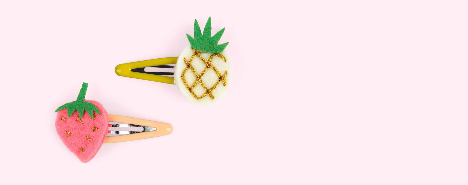Multi Meri Meri Pineapple & Strawberry Hair Clips
