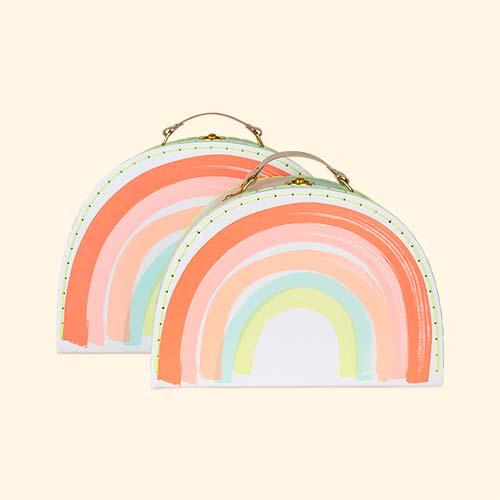 Rainbow Meri Meri Suitcase Set