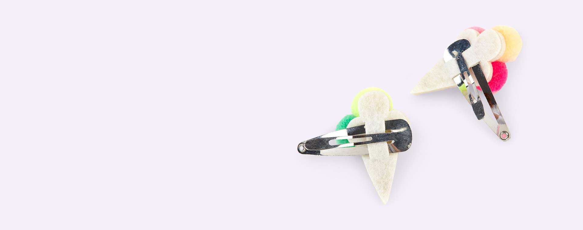 Multi Meri Meri Pom Pom Ice Cream Hair Slides