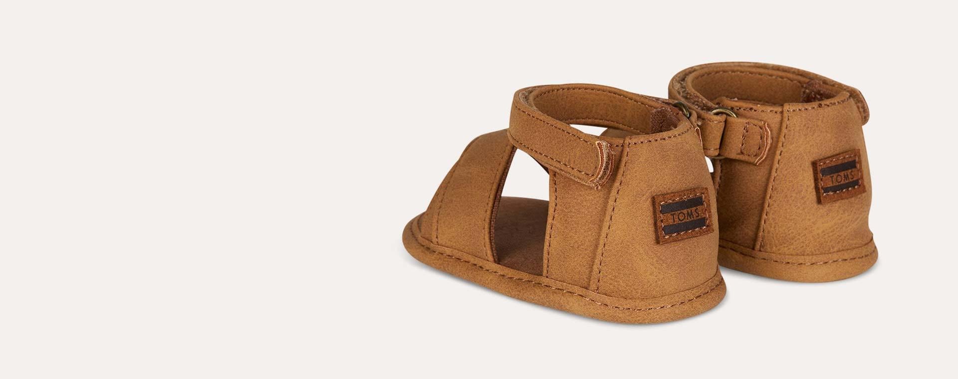 Toffee TOMS Shiloh Crib Sandal