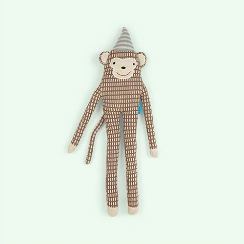 Brown OYOY Mr Nelsson Monkey Cushion