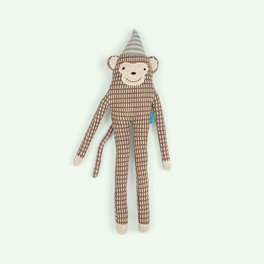 Brown OYOY Mr Nelsson Monkey Cushion