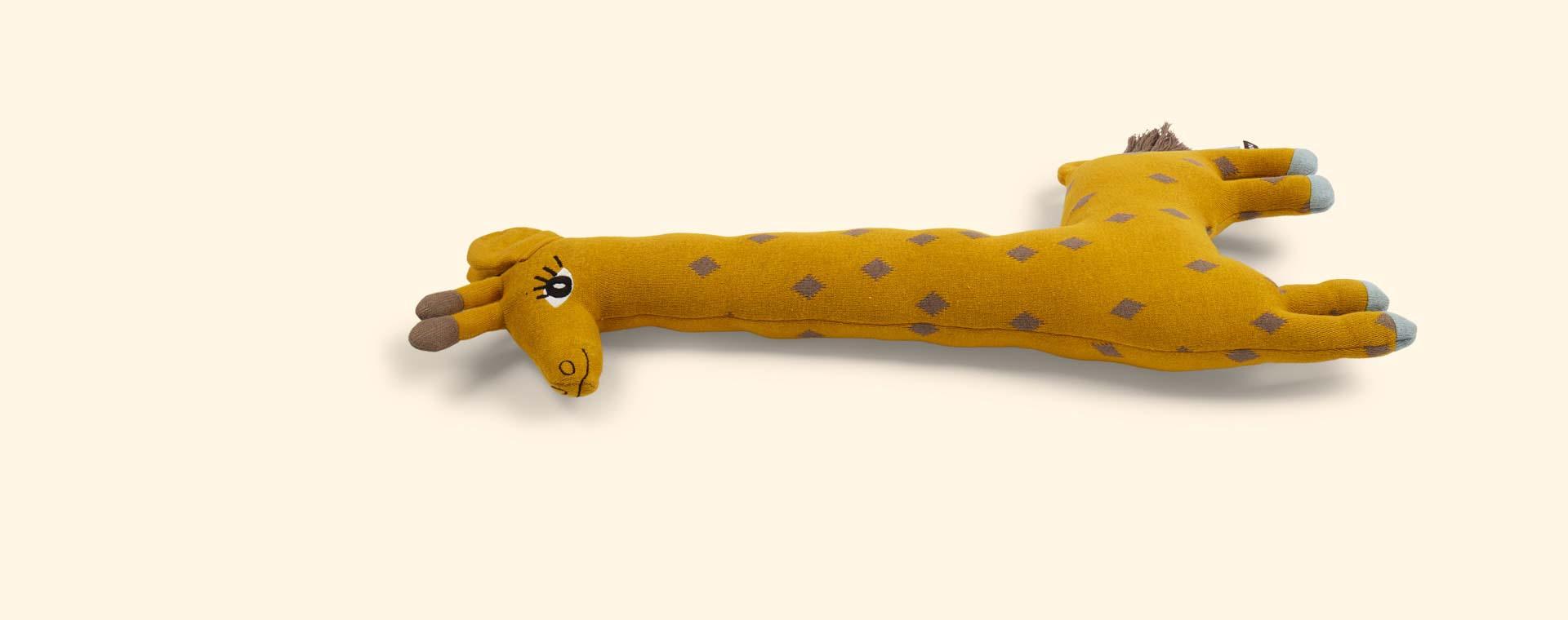 Mustard OYOY Noah the Giraffe Cushion