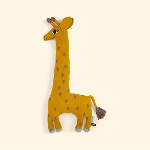 Mustard OYOY Noah the Giraffe Cushion