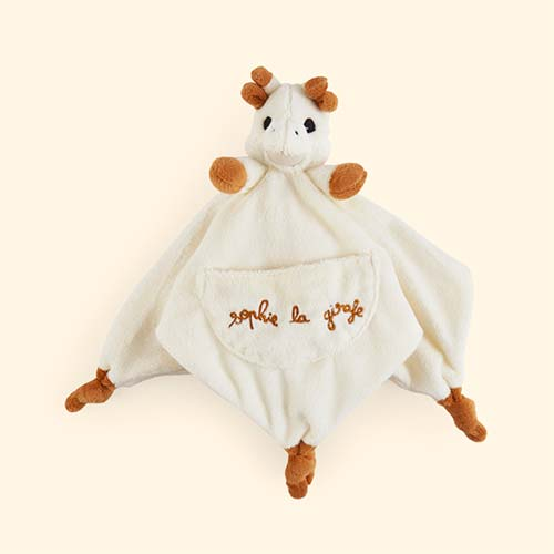 Cream Sophie la Girafe Comforter with Soother Holder