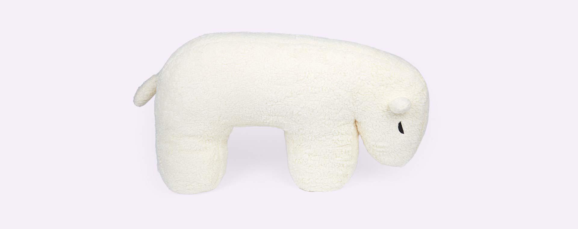 Cream Nanami Nanook Polar Bear Feeding Pillow