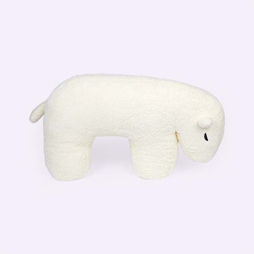 Cream Nanami Nanook Polar Bear Feeding Pillow