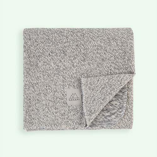 Grey Nanami Super Soft Knitlook Baby Blanket