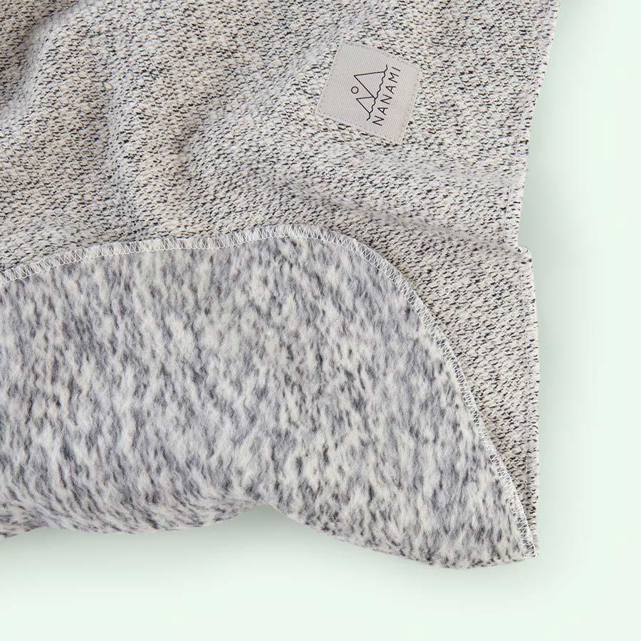 Grey Nanami Super Soft Knitlook Baby Blanket