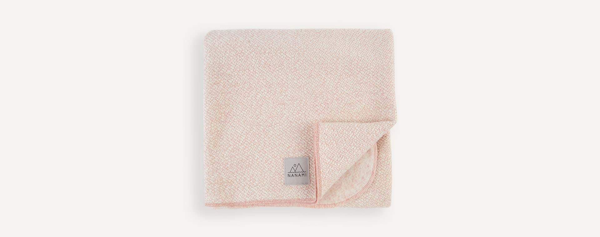 Pale Pink Nanami Super Soft Knitlook Baby Blanket