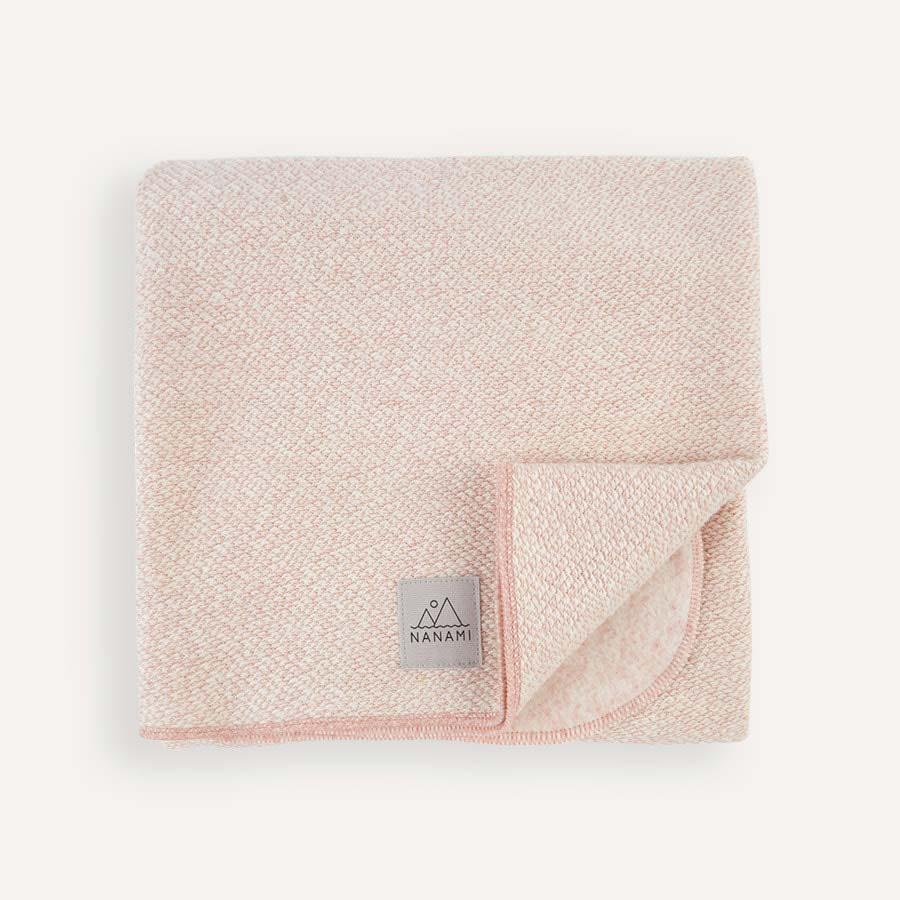 Pale Pink Nanami Super Soft Knitlook Baby Blanket