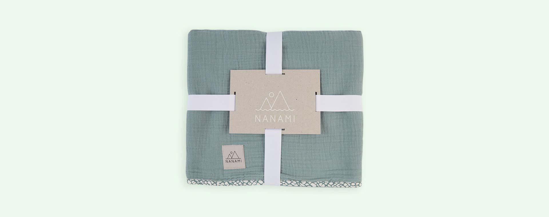 Mint Nanami Reversible Double Blanket