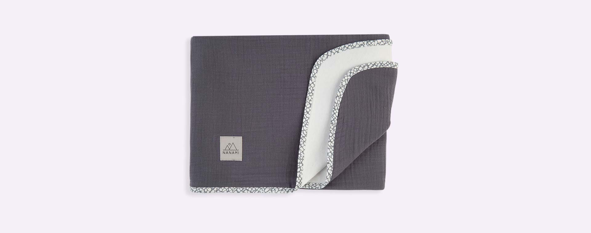 Dark Grey Nanami Reversible Double Blanket