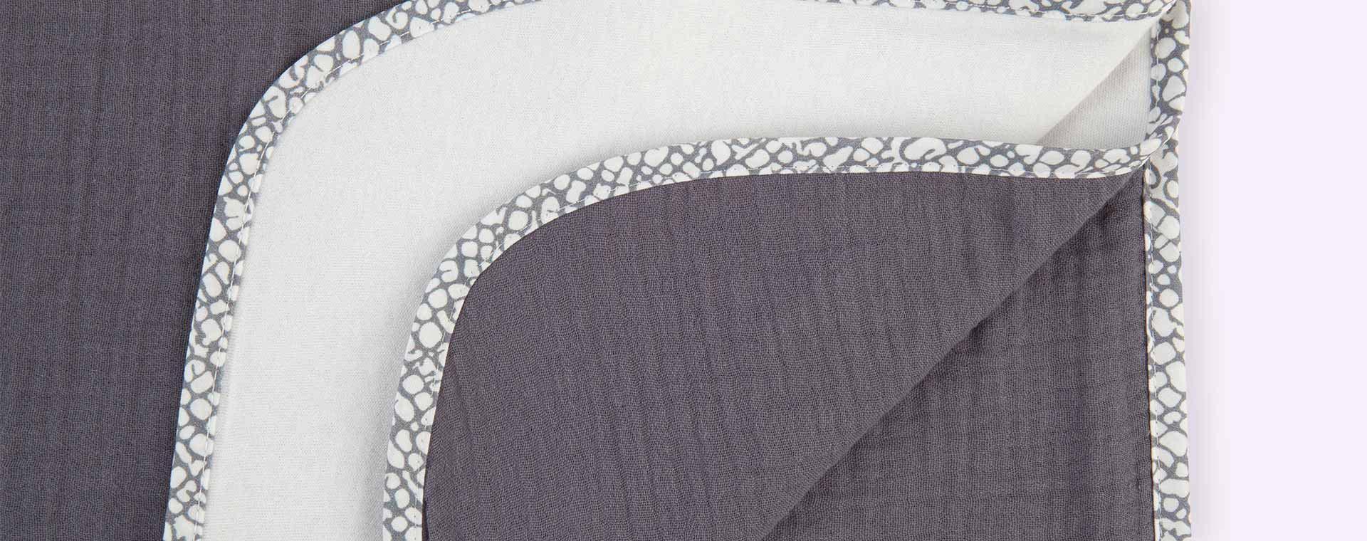 Dark Grey Nanami Reversible Double Blanket