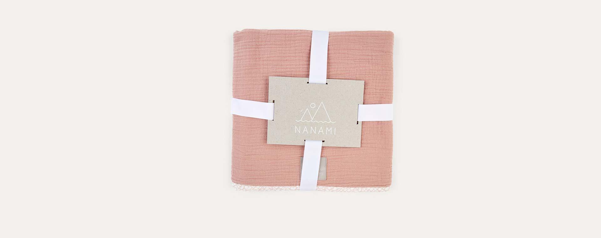 Dusty Pink Nanami Reversible Double Blanket