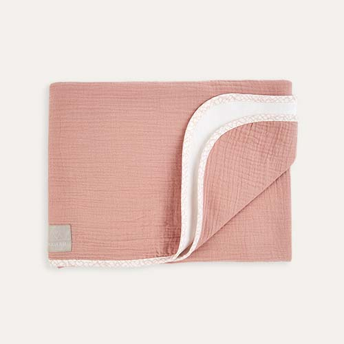 Dusty Pink Nanami Reversible Double Blanket