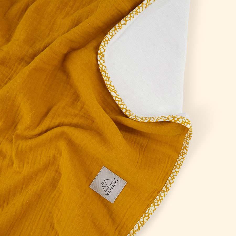 Mustard Nanami Reversible Double Blanket