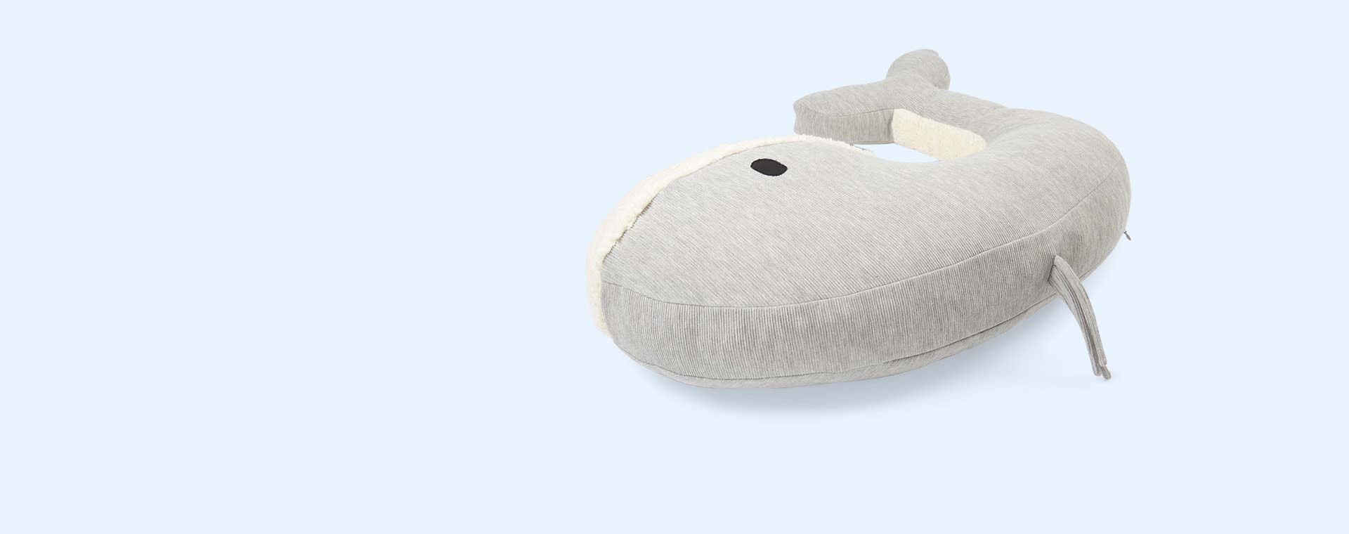 Grey Nanami Momo Whale Feeding Pillow
