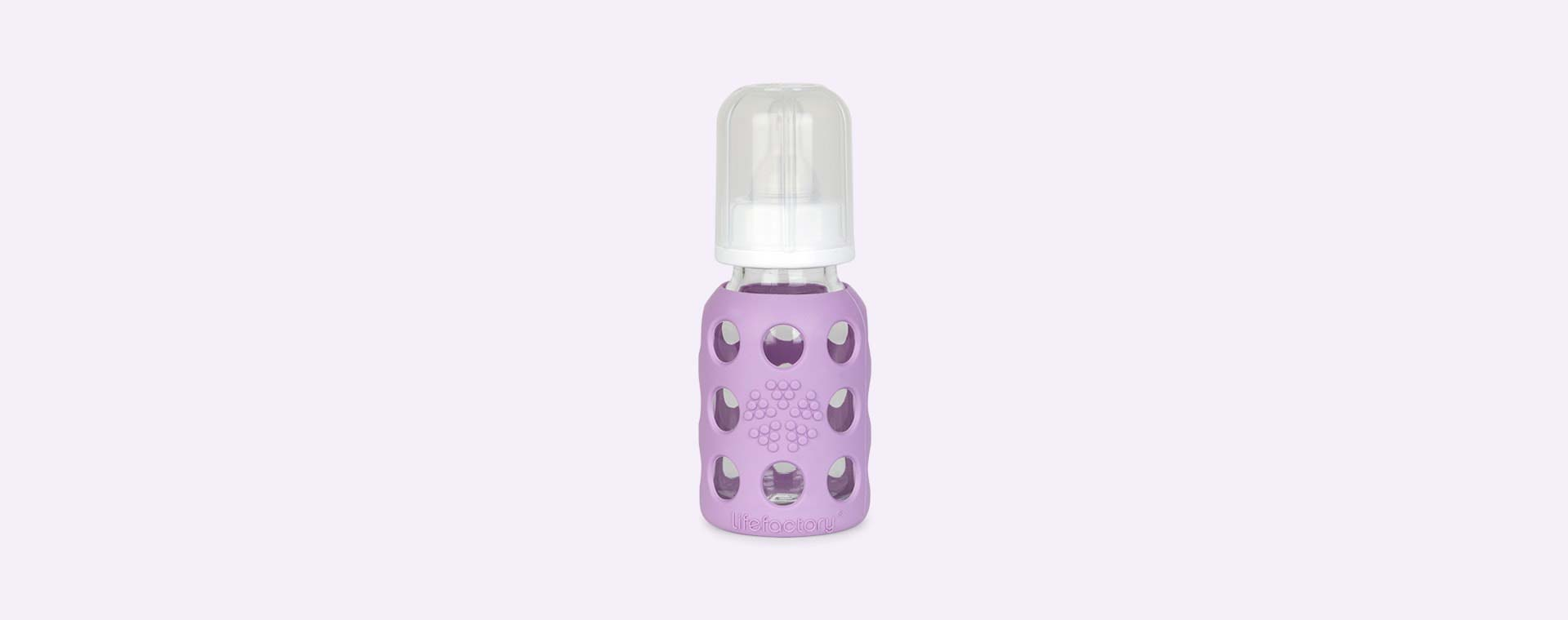 Lavender Lifefactory 4oz Glass Baby Bottle