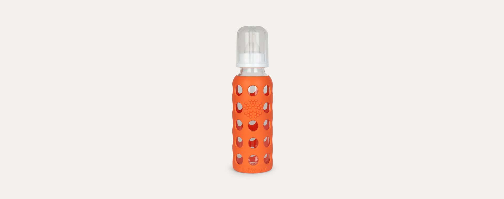 Papaya Lifefactory 9oz Glass Baby Bottle