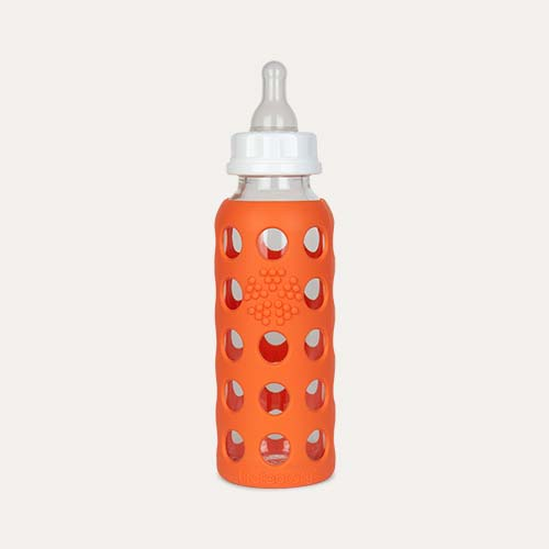 Papaya Lifefactory 9oz Glass Baby Bottle