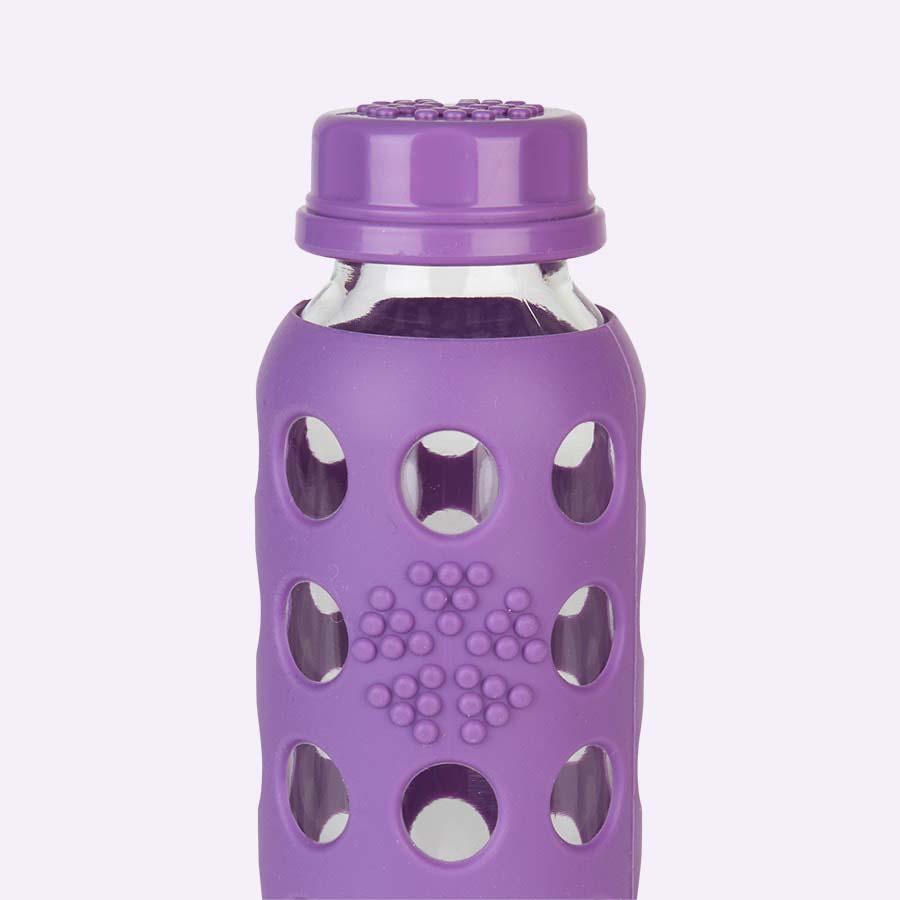 Grape Lifefactory 9oz Glass Flat Cap Bottle