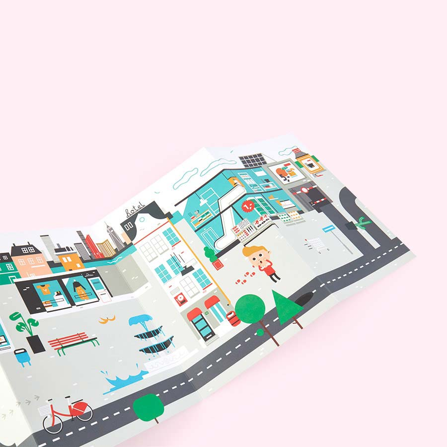 City Makii Giant Sticker Poster