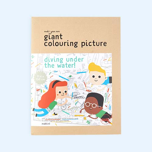 Water Makii Giant Colouring Poster