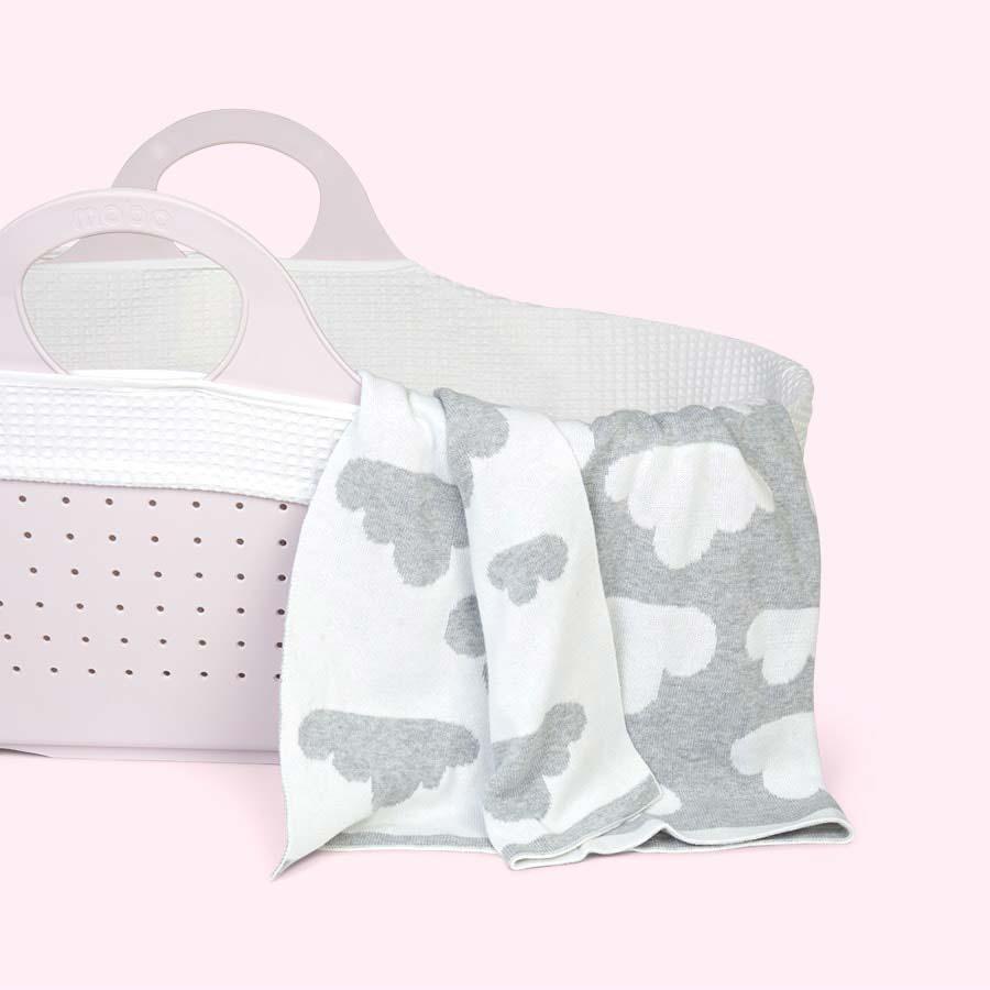 White/Grey Moba Blanket