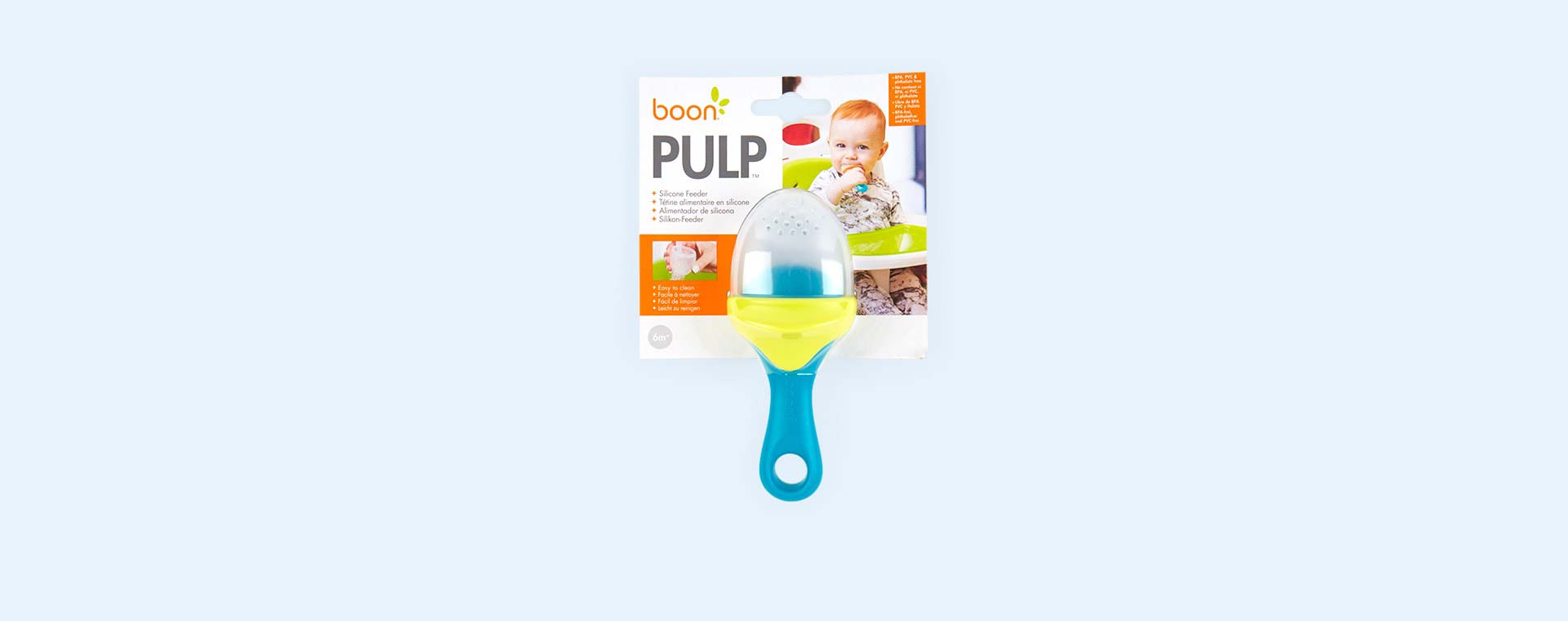 Teal Boon Pulp Silicone Feeder