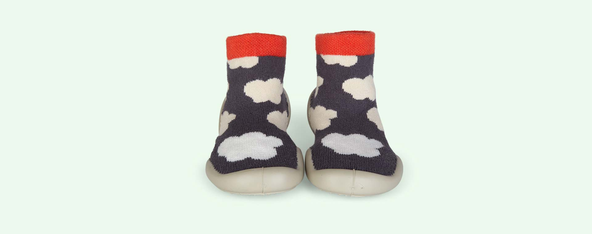 Grey Collegien Glow In The Dark Cloud Slipper Socks