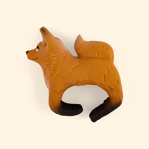 Brown Oli & Carol Rob the Fox Teething Bracelet