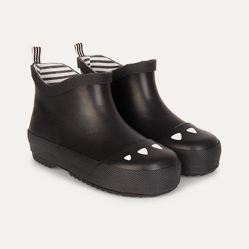 Black Boxbo Kerran Ankle Welly Boot