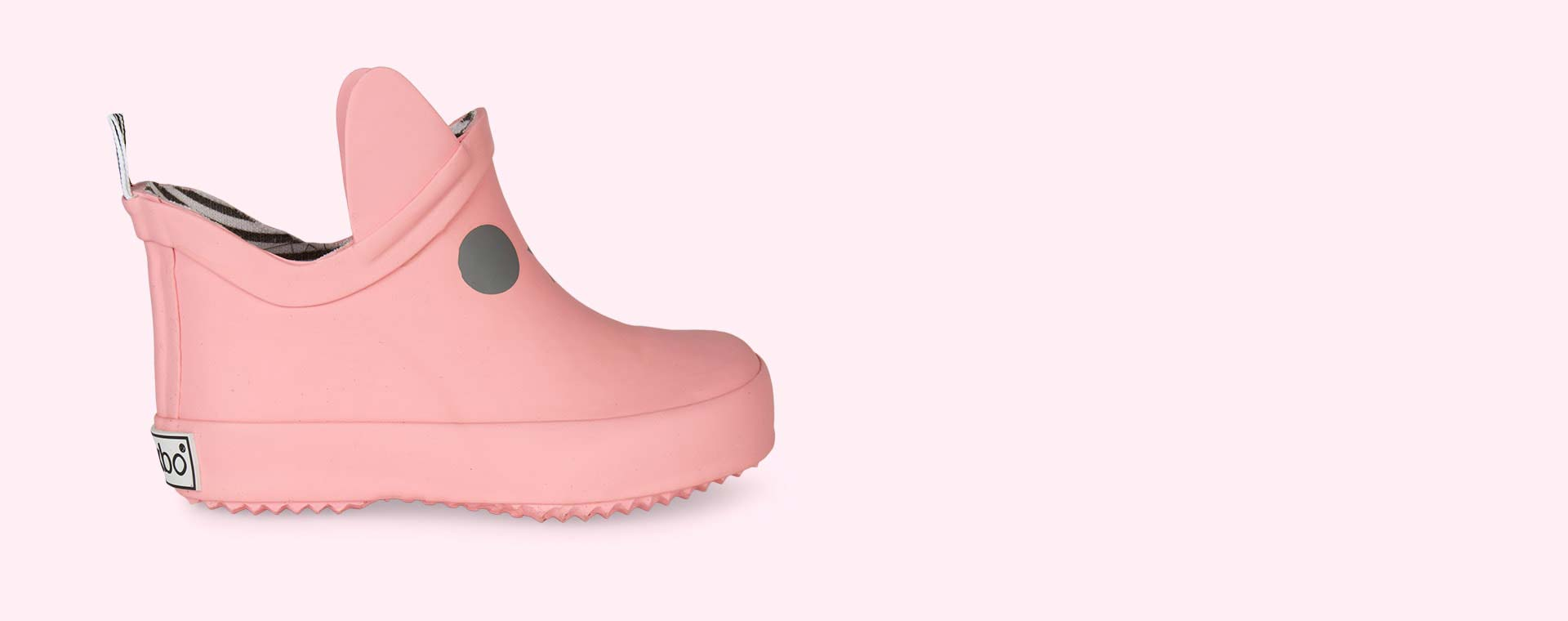 Salmon Pink Boxbo Kerran Ankle Welly Boot