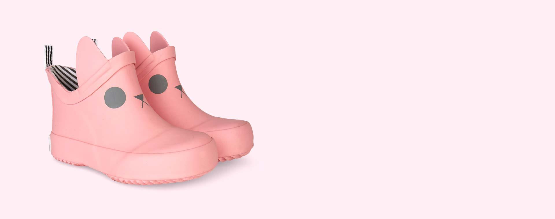 Salmon Pink Boxbo Kerran Ankle Welly Boot
