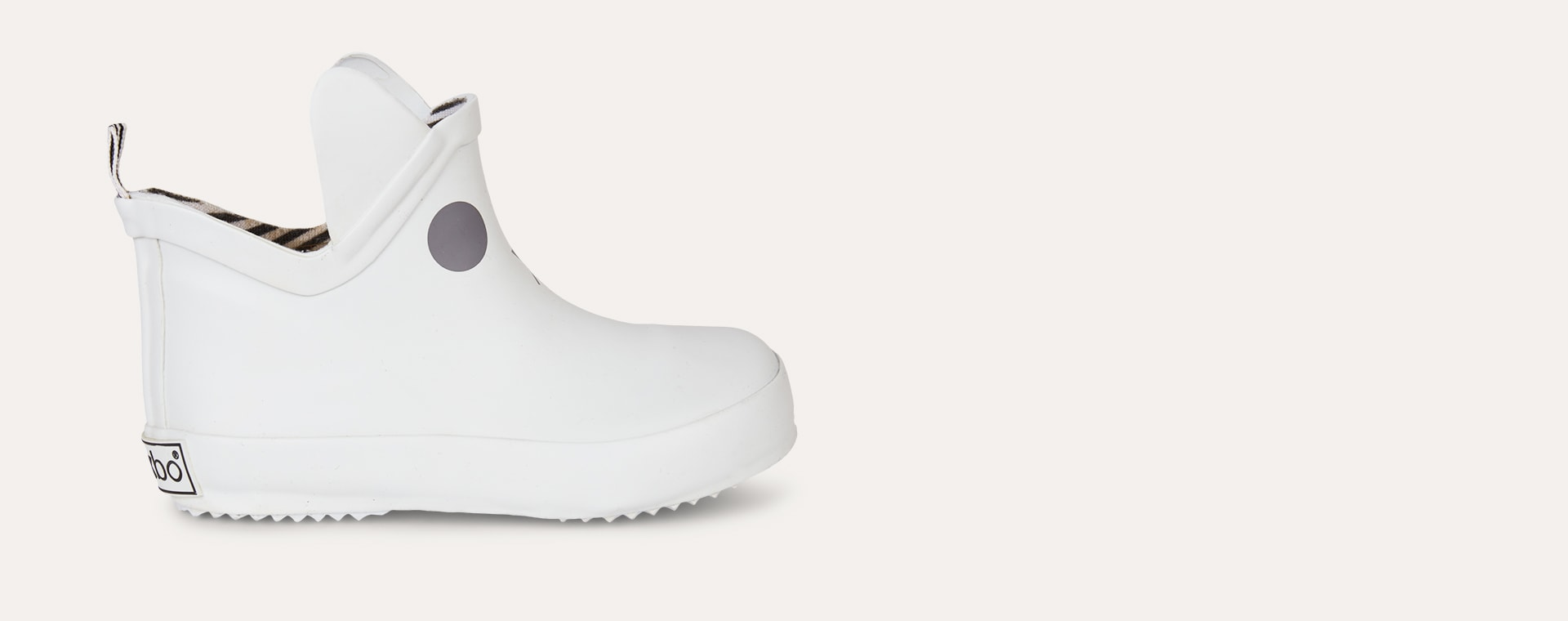 White Boxbo Kerran Ankle Welly Boot