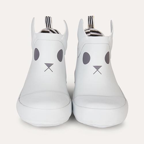 White Boxbo Kerran Ankle Welly Boot